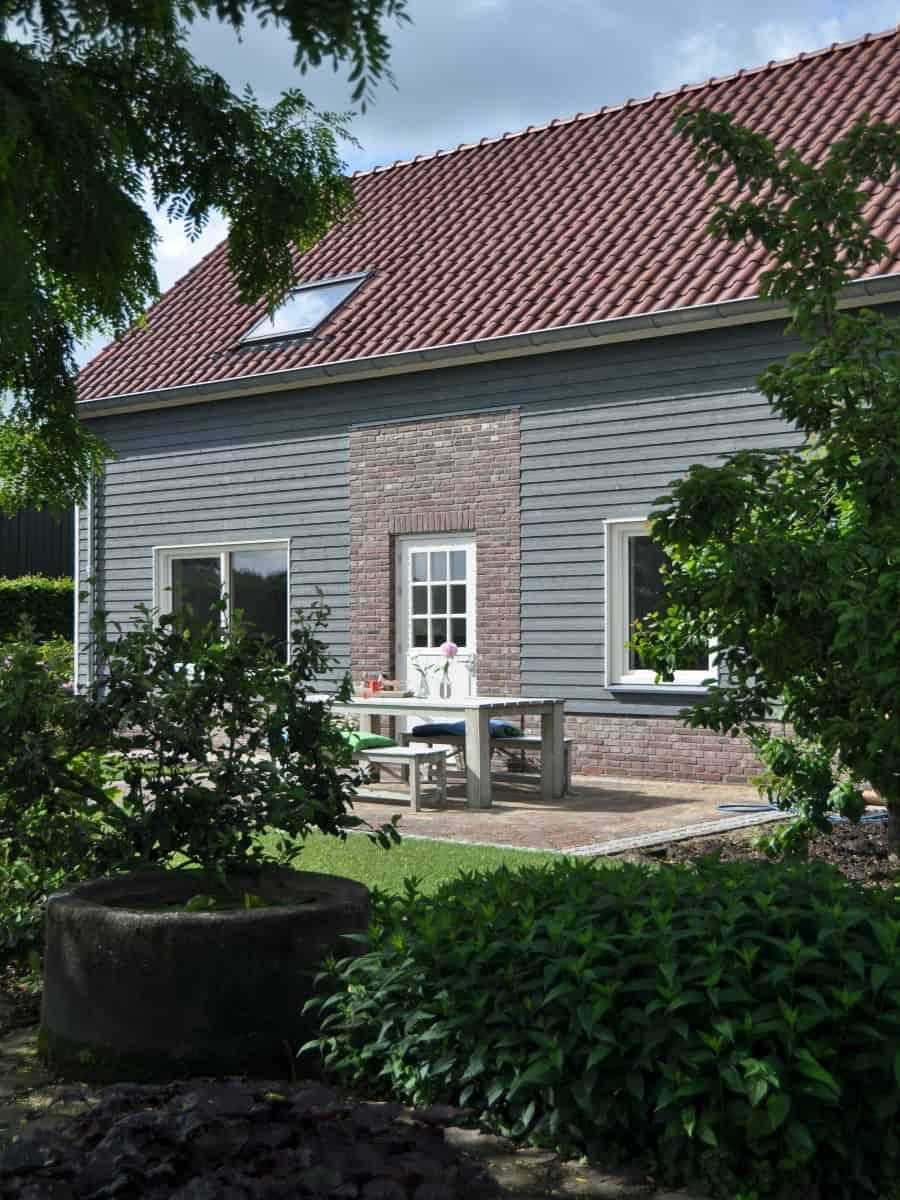 Houten huis verven moose f rg zweedse houtverf zeer for Huis verven inspiratie
