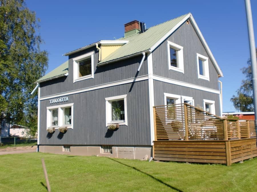 Houten huis verven moose f rg zweedse houtverf zeer for Woning schilderen