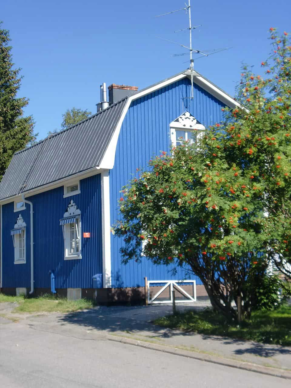 Zweeds huis in haparanda moose f rg sommarbl - Binnen houten huis ...