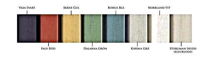 Dekkende beits kleuren