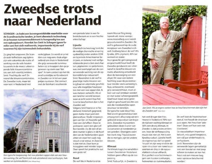 Zweeds Rood naar Nederland