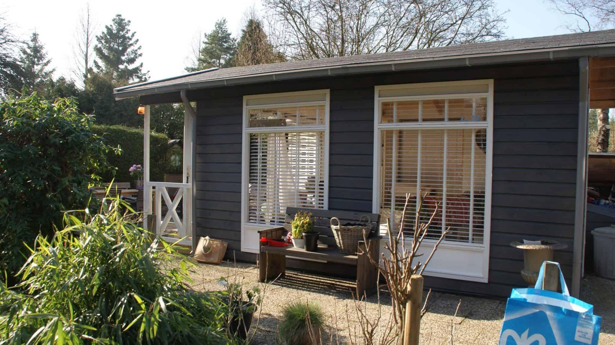 Tuin huis schilderen veel complimenten gekregen moose f rg matte zweedse houtverf - Huis in de tuin ...