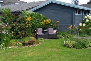 Tuinhuisverf grijs mat