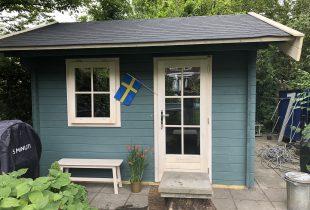 stuga verven Zweeds blauw