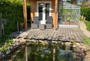 Tuinhuis kleur hout behouden