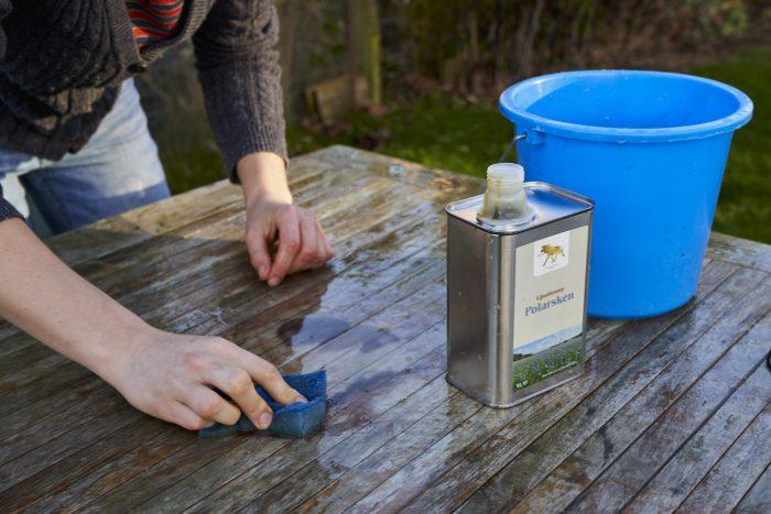 Polarsken lijnoliezeep schoonmaken hout