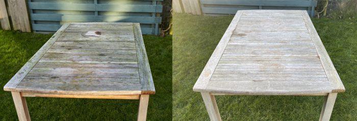 Lijnoliezeep schoonmaken houten tafel