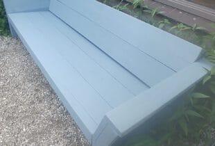 tuinbank verven blauw