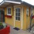 tuinhuis geel verven