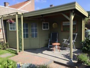 Tuinhuis groen duurzame verf